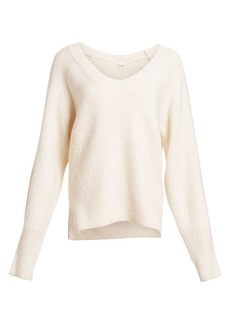 See by Chloé Merino Wool-Blend V-Neck Pullover
