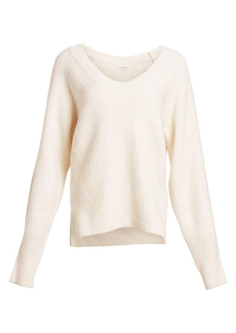 See by Chloé Merino Wool-Blend V-Neck Pullover