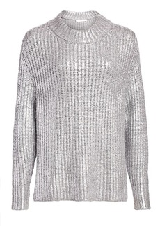 See by Chloé Metallic Long-Sleeve Knit Sweater