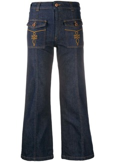 See by Chloé mid-rise flared jeans