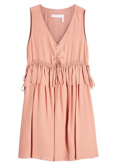 See by Chloé Mini Dress with Silk