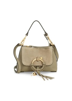 See by Chloé Mini Joan Suede & Pebbled Leather Hobo Bag