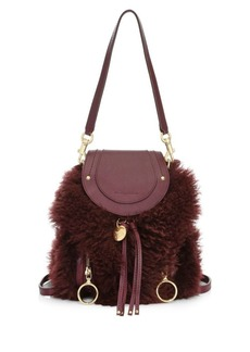 See by Chloé Mini Olga Shearling & Leather Backpack