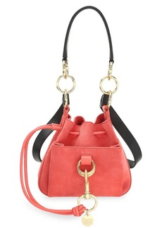See by Chloé Mini Tony Suede Bucket Bag