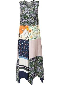 See by Chloé mix-print maxi dress