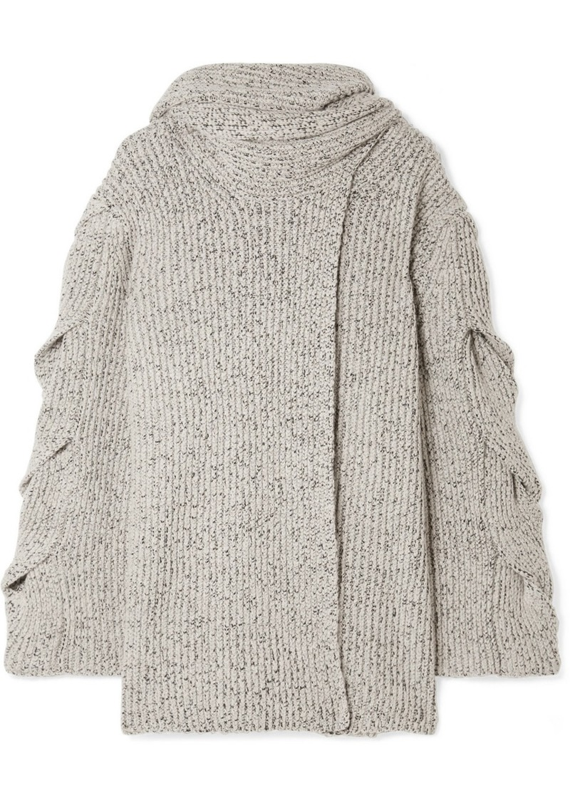 See by Chloé Mélange Ribbed-knit Cardigan