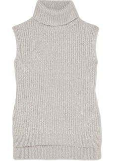 See by Chloé Mélange Ribbed-knit Turtleneck Sweater