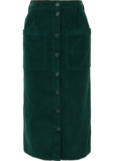 See by Chloé Moleskin Cotton-blend Midi Skirt