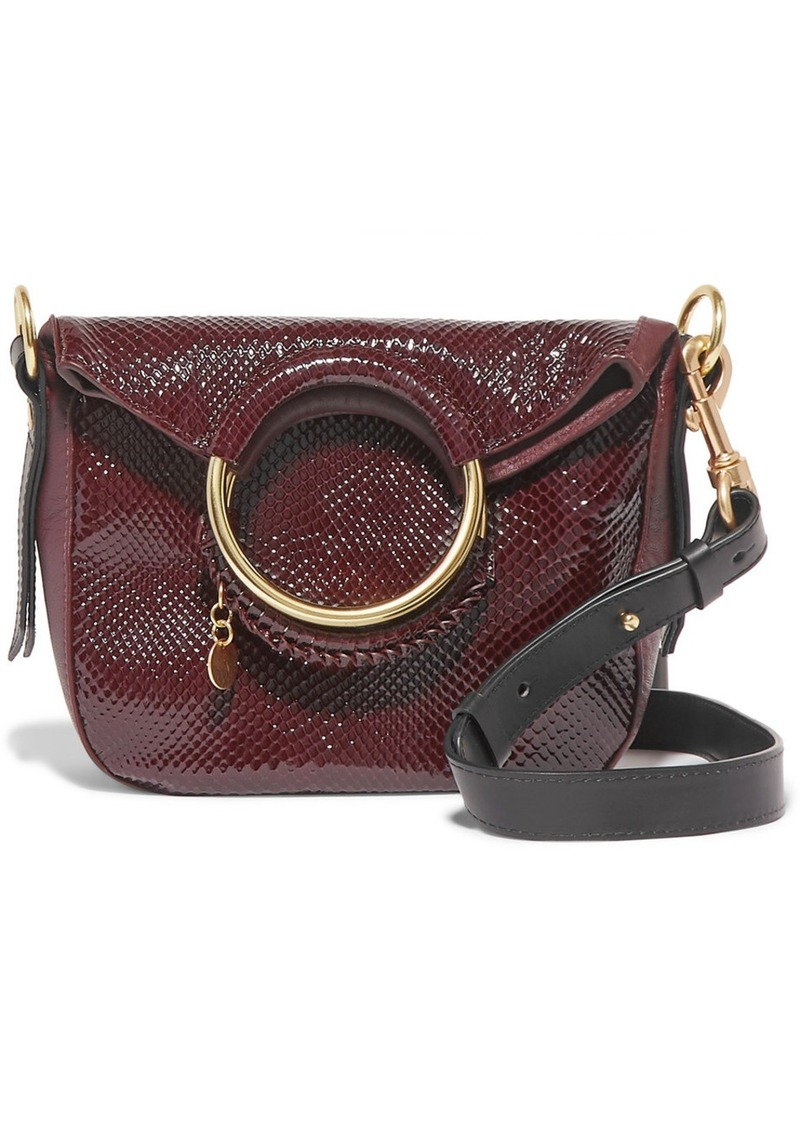 See by Chloé Monroe Small Snake-effect Leather Tote