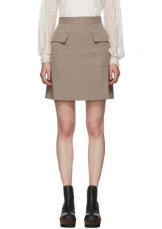 See by Chloé Multicolor Houndstooth Pocket A-Line Miniskirt