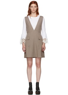 See by Chloé Multicolor Houndstooth Pocket Dress