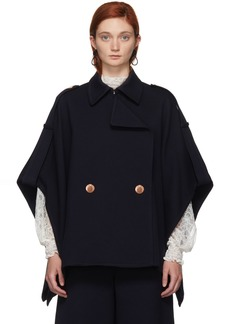 See by Chloé Navy Cape Coat