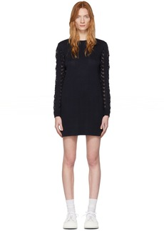 See by Chloé Navy Lace Sweater Dress