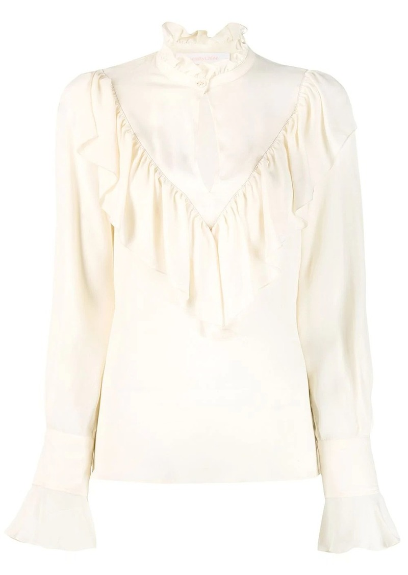 See by Chloé Neo-Victorian ruffled blouse