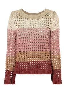 See by Chloé Open Knit Split Sleeve Sweater