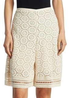 See by Chloé Open Lace Shorts
