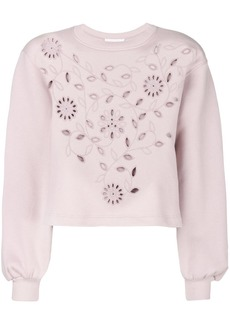 See by Chloé openwork embroidered sweatshirt