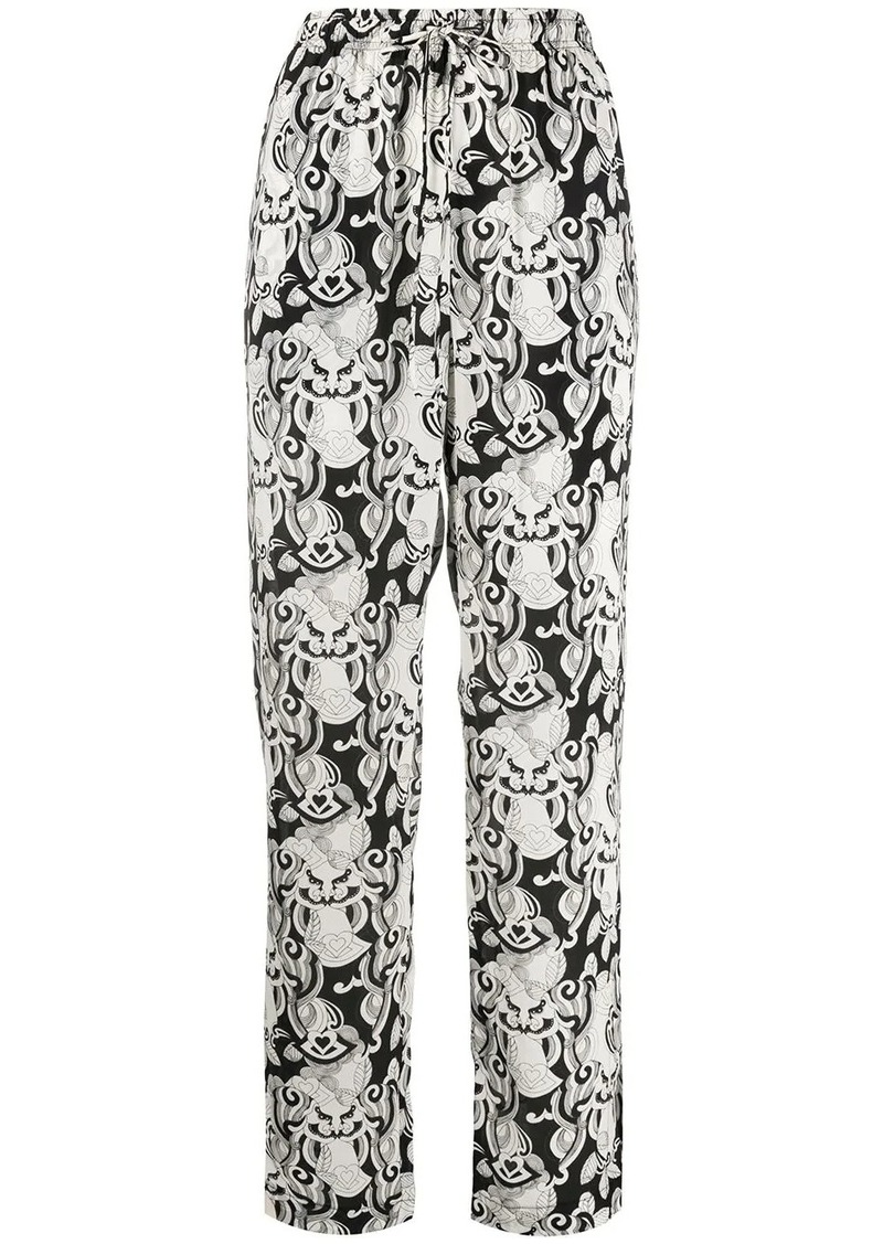 See by Chloé ornate-print high-rise trousers