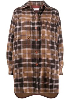 See by Chloé oversized checkered shirt coat
