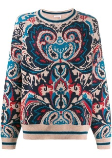 See by Chloé oversized patterned jumper