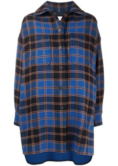See by Chloé oversized plaid shirt coat