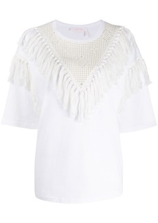 See by Chloé Oversized tassel T-shirt