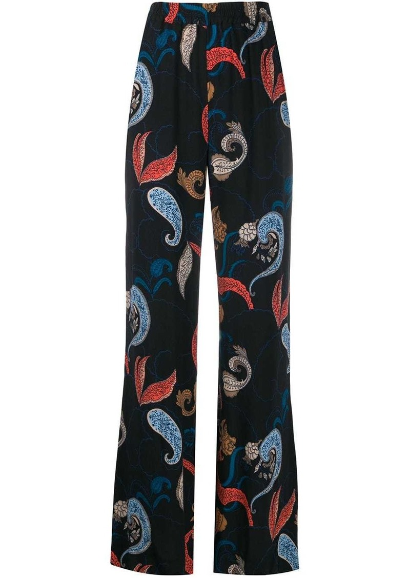 See by Chloé paisley flare trousers