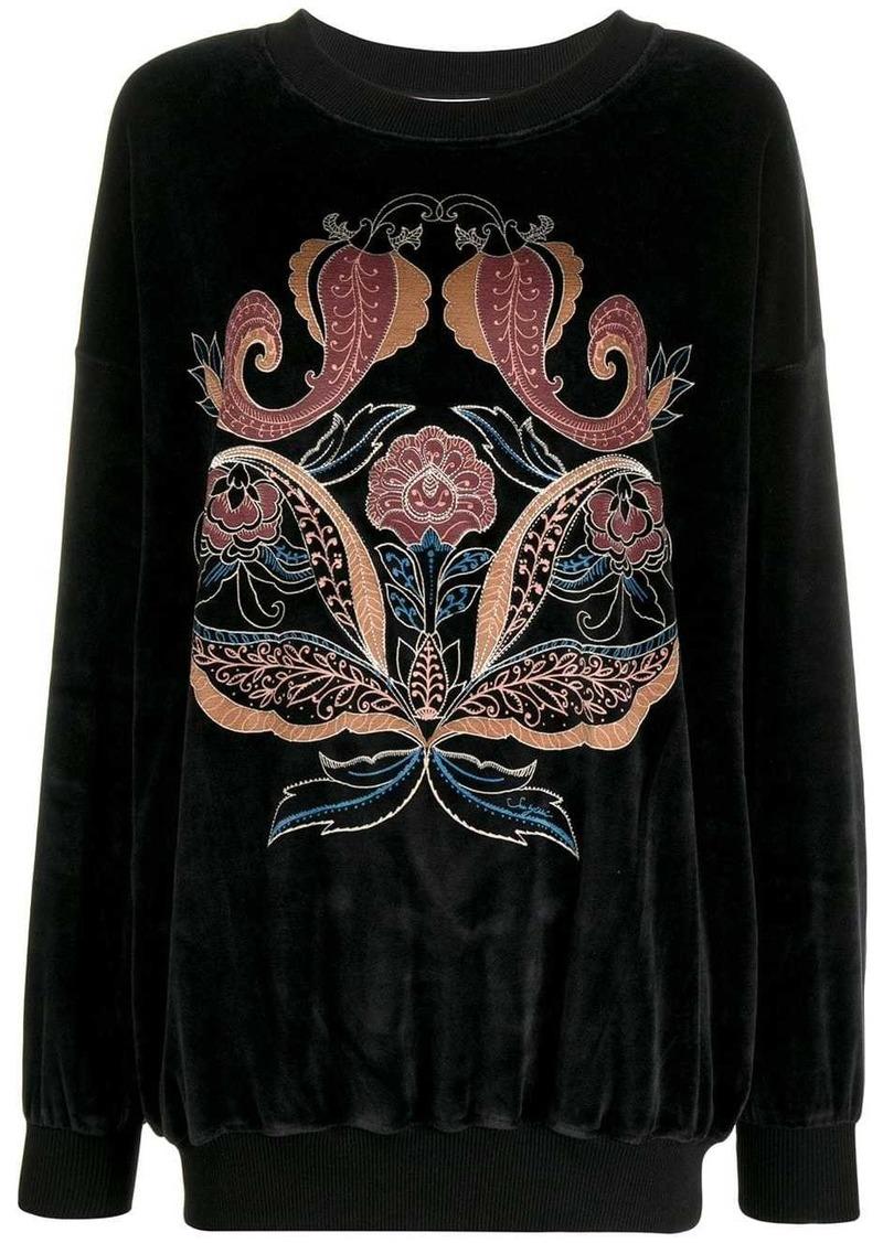 See by Chloé paisley print longline sweatshirt