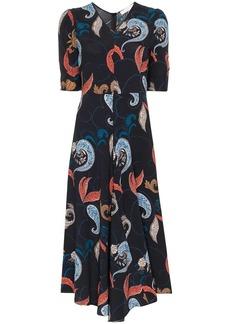 See by Chloé paisley print midi dress