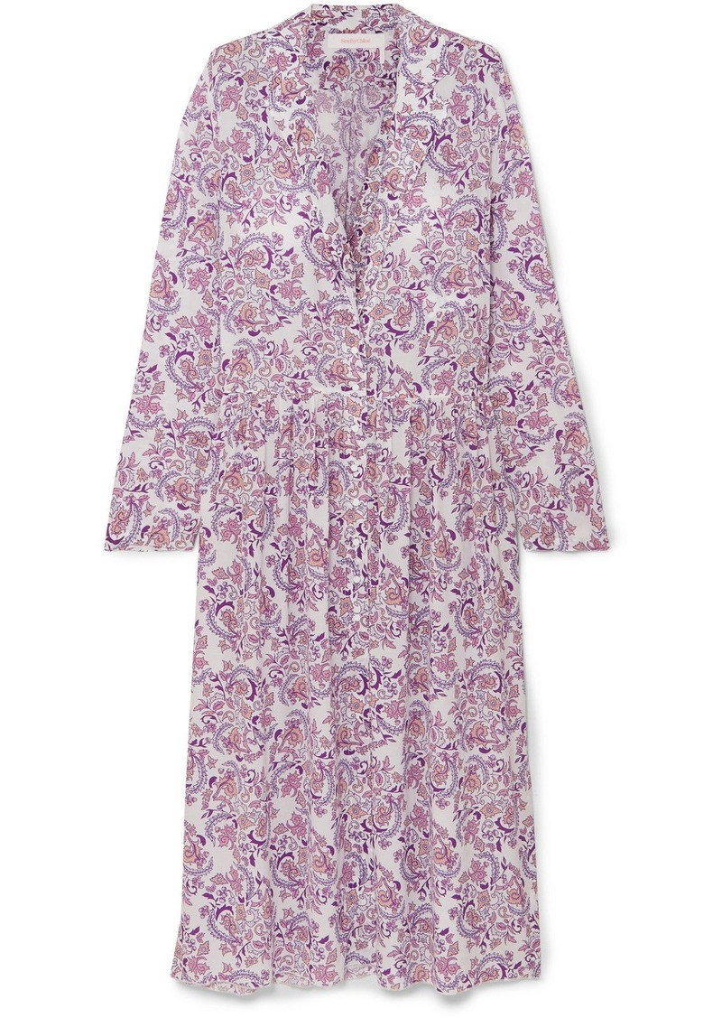 See by Chloé Paisley-print Voile Midi Dress