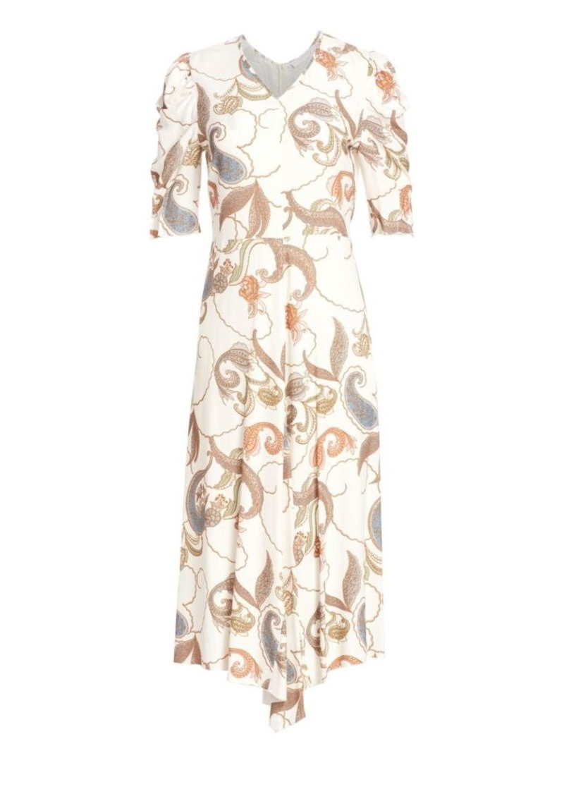 See by Chloé Paisley Puff Sleeve Prairie Dress