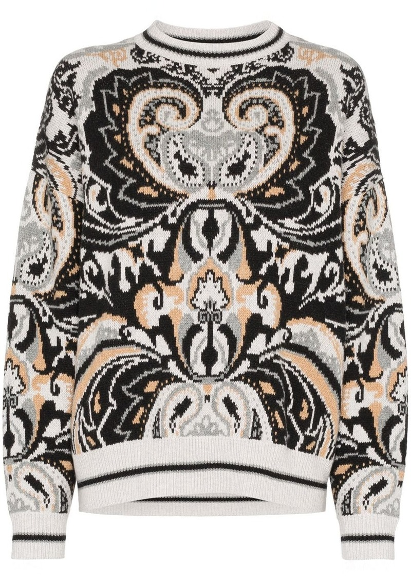 See by Chloé paisley tapestry jumper