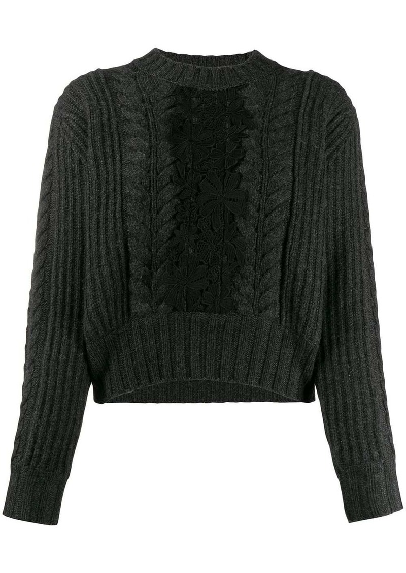 See by Chloé paneled jumper