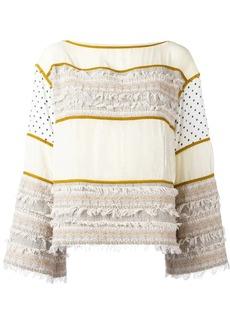 See by Chloé paneled sweatshirt