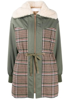 See by Chloé panelled parka coat