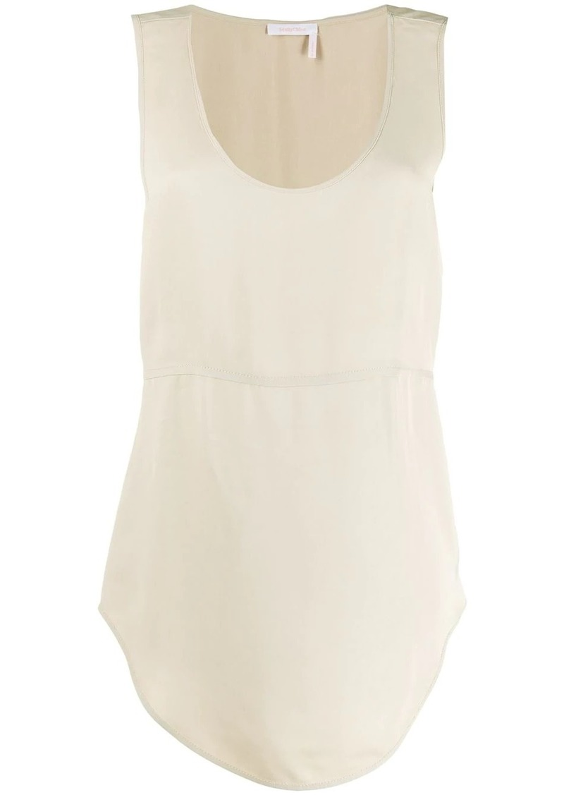 See by Chloé panelled tank top