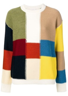 See by Chloé patchwork-style sweater