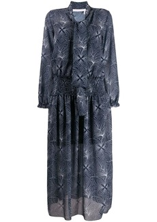 See by Chloé patterned tie neck shirt dress