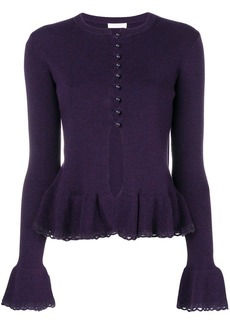 See by Chloé peplum knit cardigan