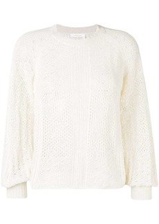 See by Chloé perforated knit jumper