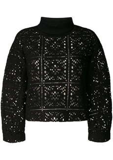 See by Chloé perforated turtleneck sweater