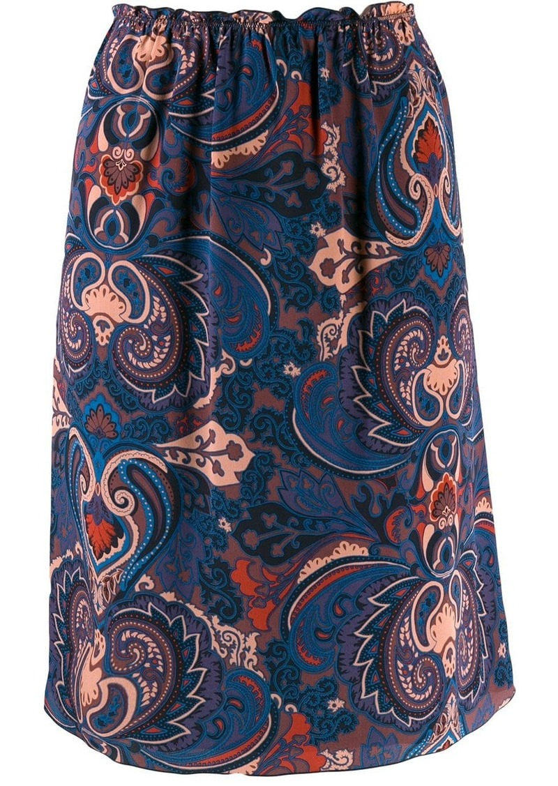 See by Chloé Persian print skirt