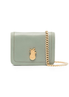 See by Chloé pineapple-plaque leather mini bag