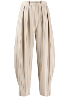 See by Chloé pinstripe pleated trousers