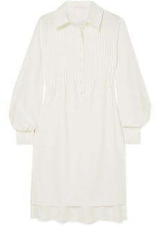 See by Chloé Pintucked Crepe Dress