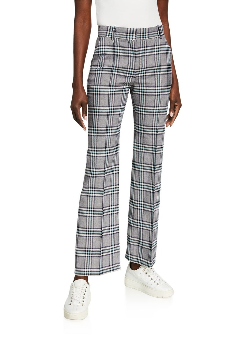 See by Chloé Plaid Straight-Leg Pants