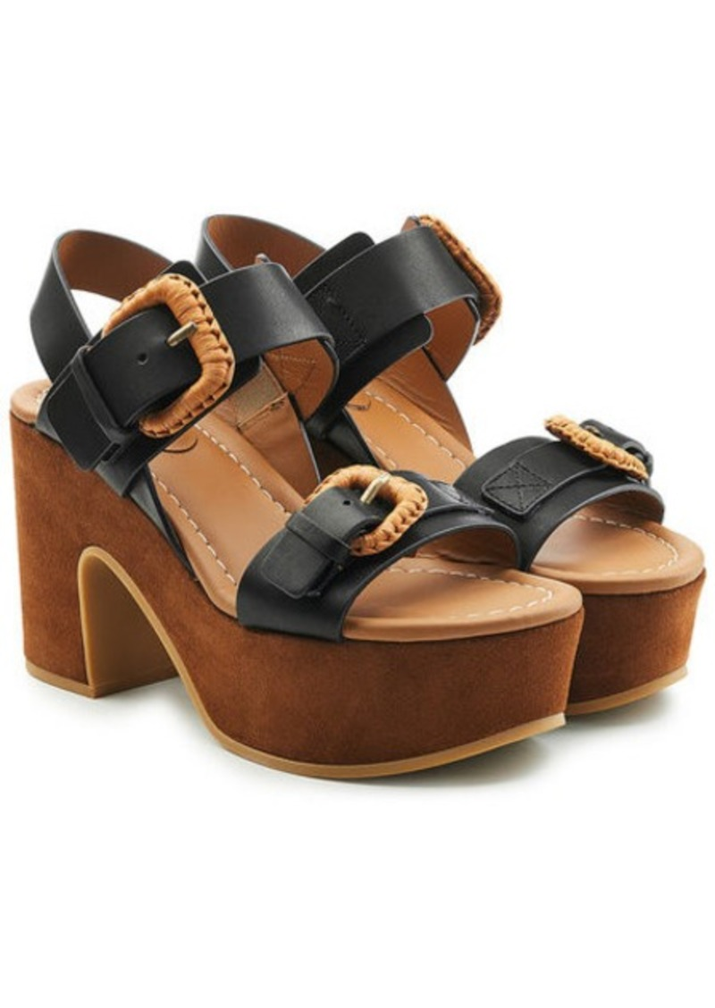 5ac38632e082 See by Chloé Platform Sandals in Leather and Suede