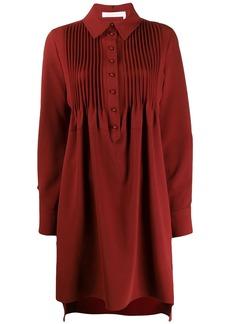 See by Chloé pleated bib shirt dress