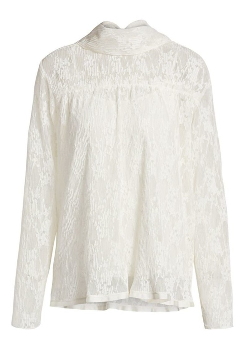 See by Chloé Pleated Lace Blouse
