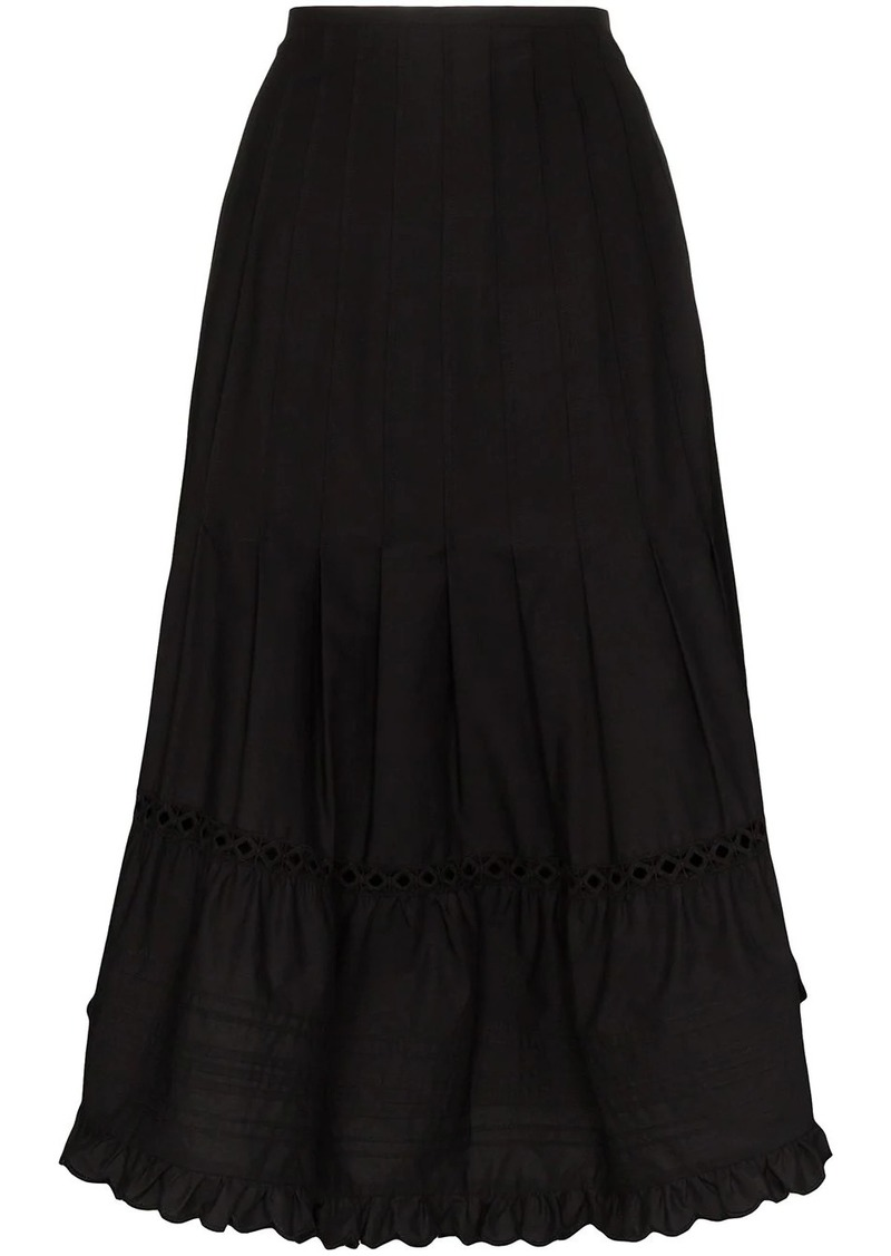 See by Chloé pleated midi skirt